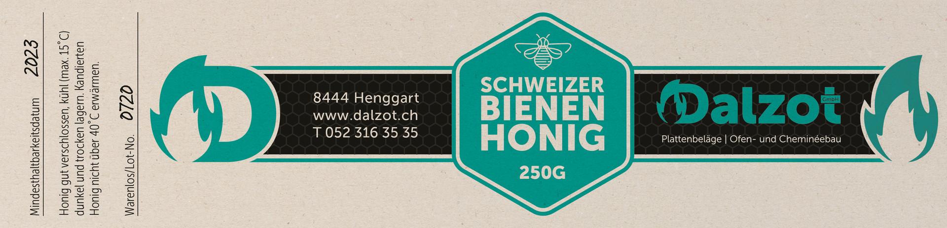 Gestaltung Honigetikette für Dalzot GmbH