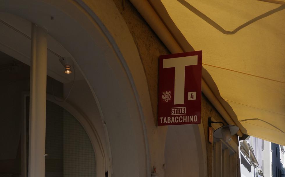 Aussenbeschriftung Steibi Tabacchino 2019