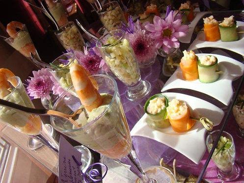 Buffet cocktail  rose Celtic-evenement traiteur événementiel mariage rennes