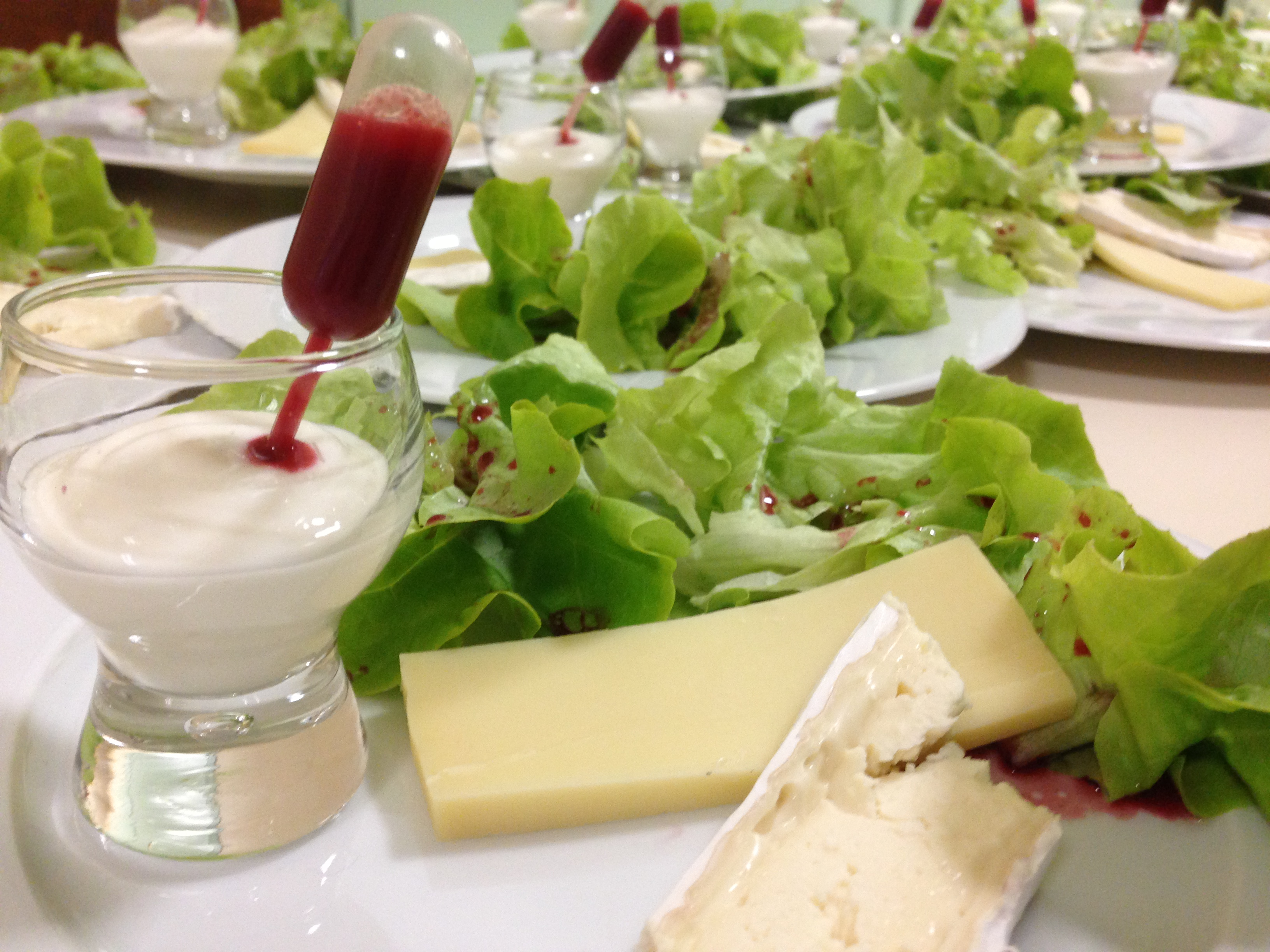 Dressage fromages salade