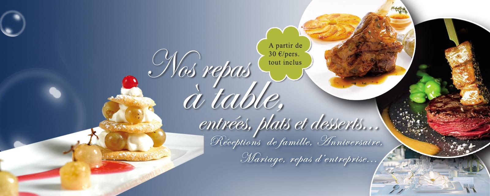 Repas traiteur à table 35 r