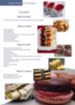 Liste des produits cocktail sucrés Celtic-evenement traiteur événementiel mariage rennes