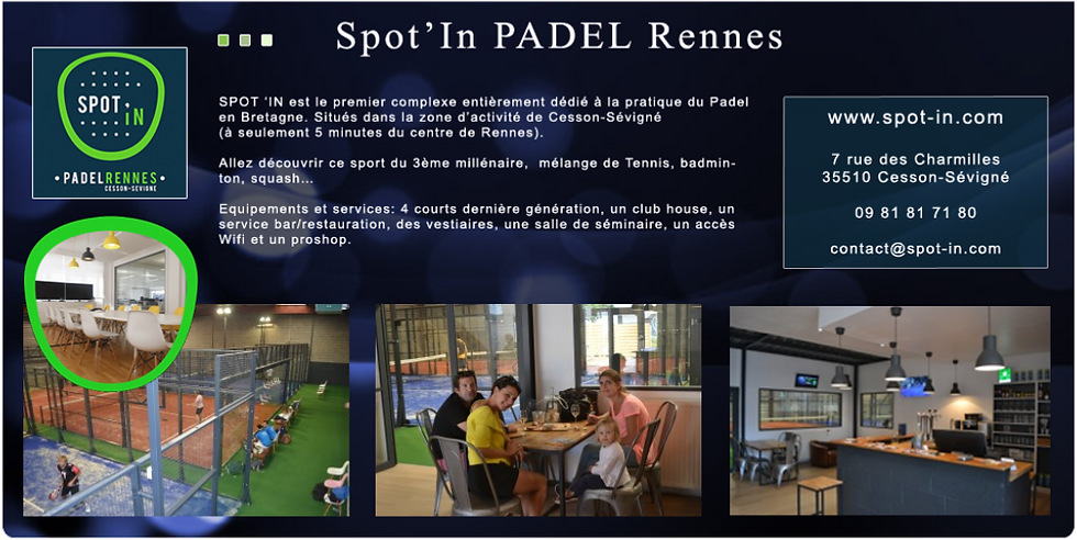 Spot'in PADEL Rennes partenaire