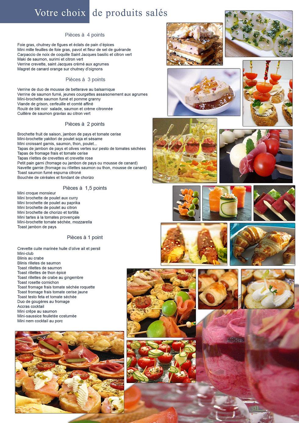 Liste des produits cocktail Celtic-evenement traiteur événementiel mariage rennes