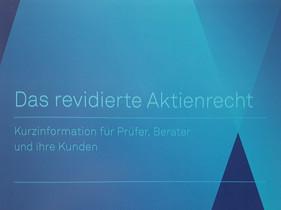 Broschüre «Das revidierte Aktienrecht»