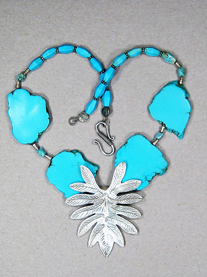 Silver Leaf and Turquoise