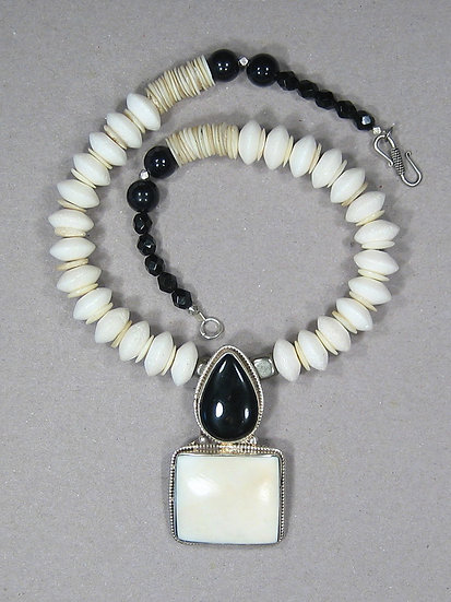 Onyx and Conch Pendant