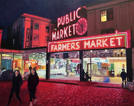 Anne Doane | An Evening at Pike Place Market | 2D