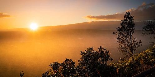 Linden Pohland   Sunset Over Halema'uma'u Crater, Hawaii Island   Photography