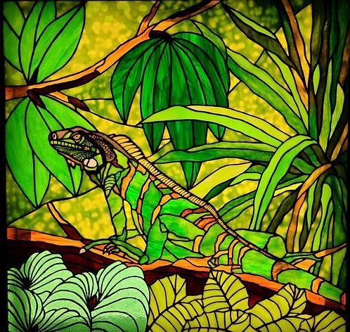 Lee Richards | Iguana on a Branch | 2D