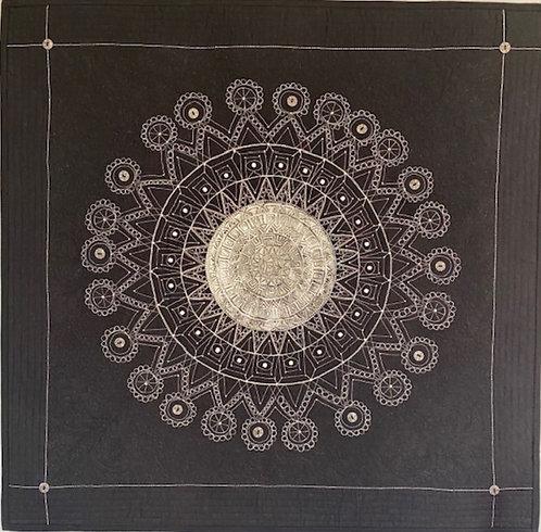 Karen Sienk | Silver mandala full | 2D