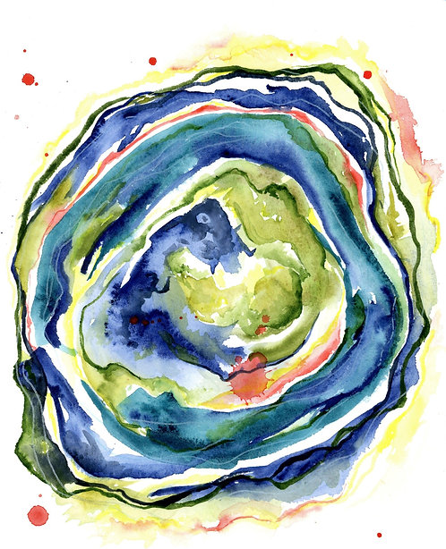 Sydney Davis | Vortex in blue | 2D