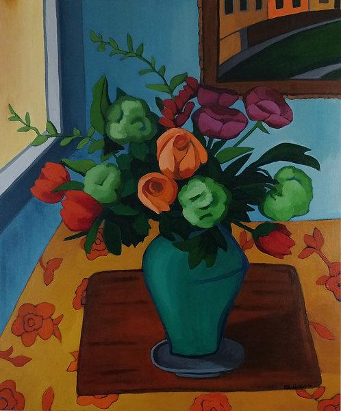 Greta Burco   Still Life with Roses   2D