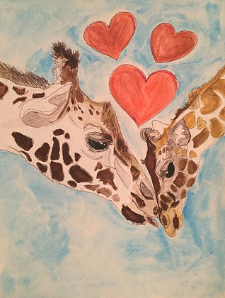 Carla Davis | Giraffe Mother and Baby