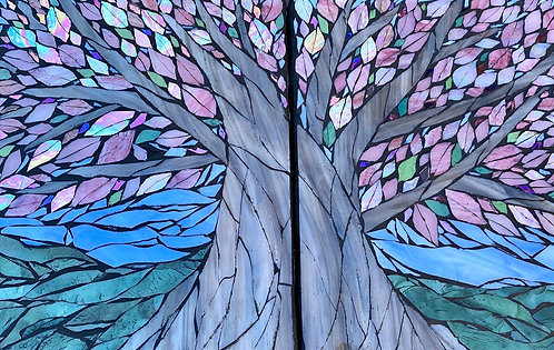 Teresa White   Iridescent Pink Tree of Life Double Trouble   2D