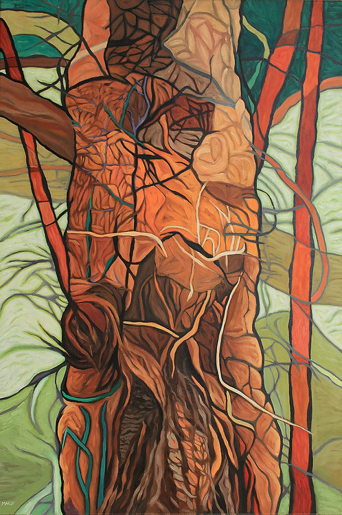 Susan Makov   Tree Overgrown with Vines   2D