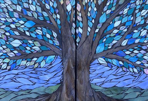 Teresa White | Blue Teal Tree | 2D