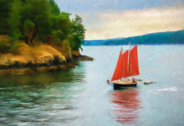 Lynne Greenup | Red Sails in the San Juans
