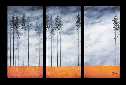 Carolyn Doe | Tree Friends Triptych | 2D