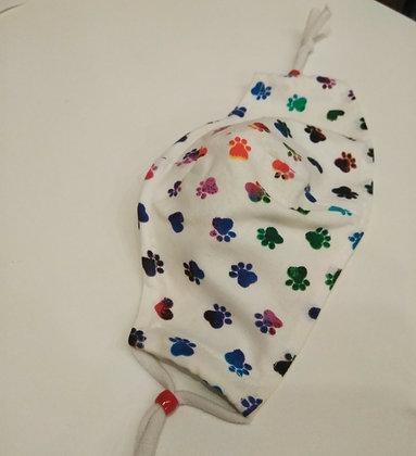 Shari Hopple | Kid's Medium Paw Print Mask