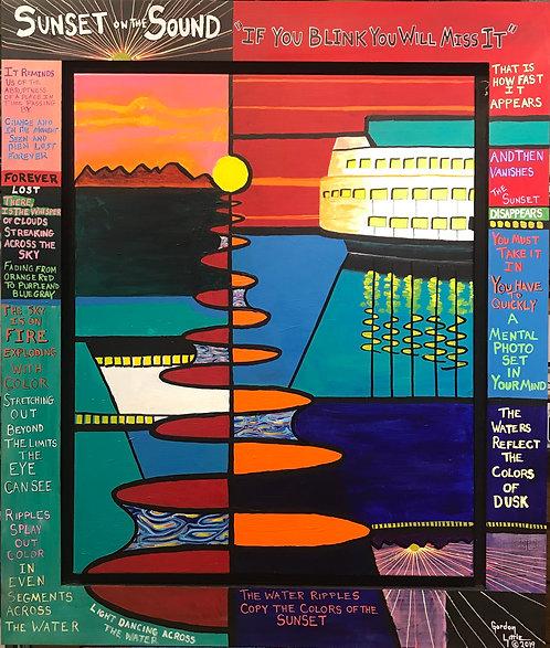 Gordon Little | Sunset On The Sound | 2D