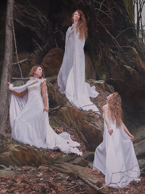 Diane Turner | Triplets in White | 2D | People's Choice 3rd Place