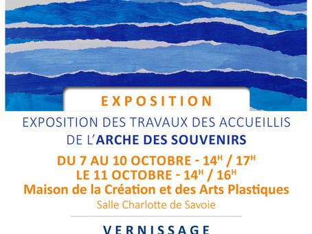 ►Exposition Arche des Souvenirs - 7 au 11 octobre - Maison de la Création et des Arts Plastiques