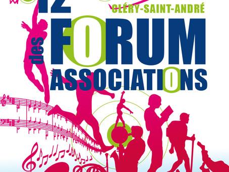 12e Forum des Associations - Samedi 4 septembre - 9h > 12h - Gymnase Communal