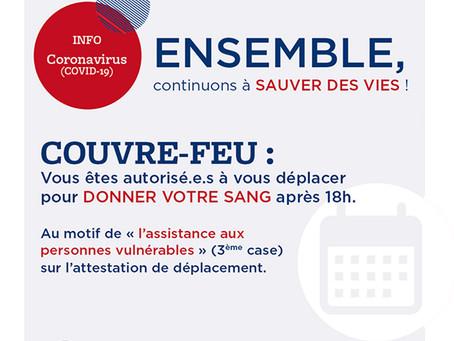 Don du sang - Espace Loire - Jeudi 21 janvier - 16h à 19h30