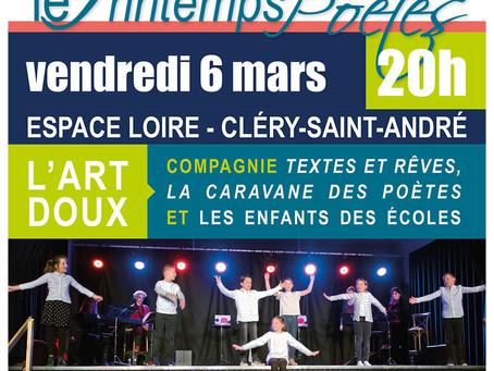►Le Printemps des Poètes - Vend. 6 mars - 20h - Espace Loire de Cléry-Saint-André