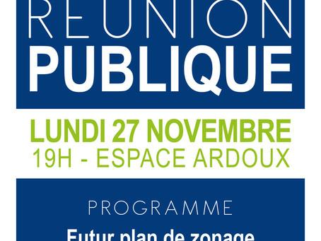 ►Réunion publique PLU - Lundi 27 novembre