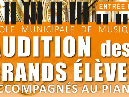 ►Audition des Grands Élèves - Samedi 25 mai - 10h30 - Salle des Bergerêts