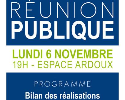 ►Réunion publique - Lundi 6 novembre