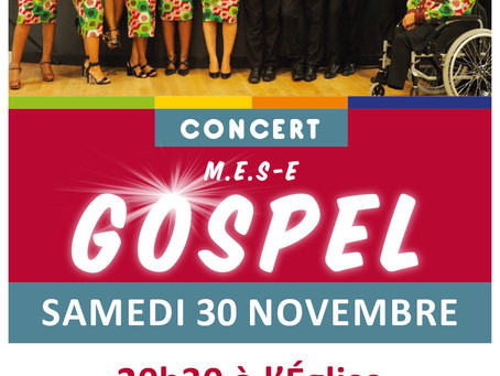 ►Concert de Gospel - Église de Mézières-lez-Cléry - Samedi 30 novembre - 20h30