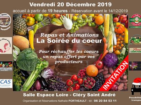 ►La soirée du Coeur : Vendredi 20 décembre - 19h - Espace Loire