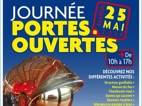 ►Journée Portes ouvertes au Centre de Secours de Cléry - Samedi 25 mai 2019 - 10h > 17h