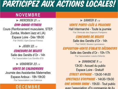 ►Téléthon : Du 21 novembre au 9 décembre Participez aux actions locales!