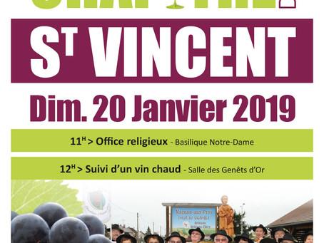 ►Chapitre de la Saint Vincent - Dimanche 20 Janvier