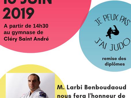 ►AASC Judo Club du Val d'Ardoux - Remise des diplômes Dimanche 16 juin - 14h30 - Gymnase