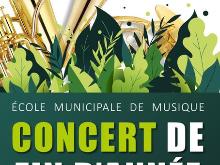 Concert de fin d'année - Samedi 26 juin - 18h - Clos Noah