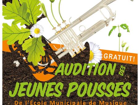 ►Audition des Jeunes Élèves - Jeudi 12 mars - 19h - Salle de l'Harmonie