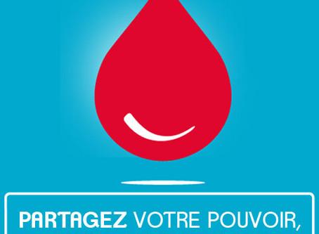 Don du sang - Espace Loire - Jeudi 3 septembre - 16h à 19h30