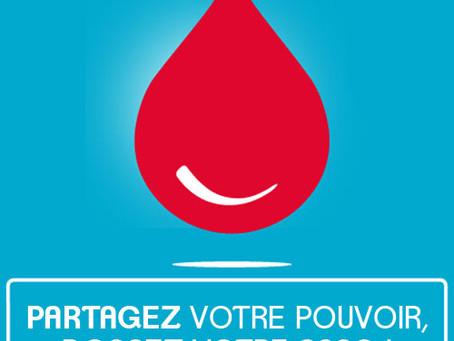Don du sang - Espace Loire - Jeudi 1er avril - 16h à 19h30