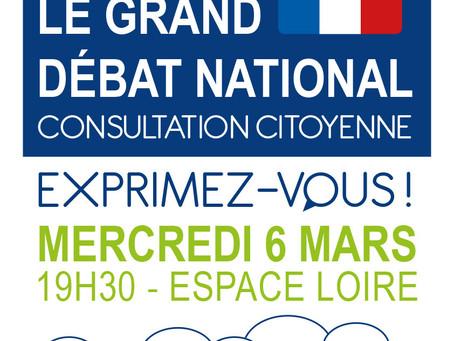 ►Grand Débat National - Mercredi 6 Mars - 19h30 - Espace Loire de Cléry-Saint-André