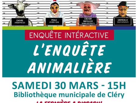 ►Enquête interactive - La fermière a disparu! - Sam. 30 mars - 15h - Bibliothèque municipale de Clér