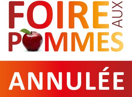 Foire aux Pommes : Annulation de la 34e édition