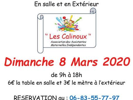 ►Vide grenier - Dimanche 8 mars - 9h à 18h - Salle Espace Loire