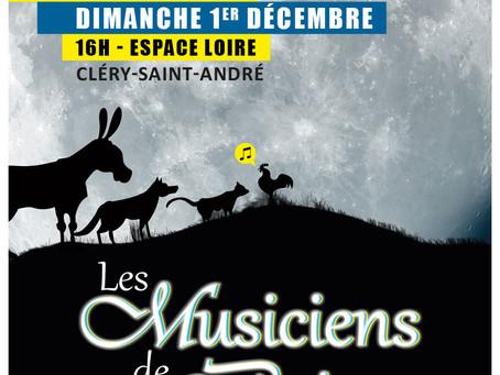 ►Concert : Les musiciens de Brême - Dimanche 1er Décembre - 16h - Espace Loire