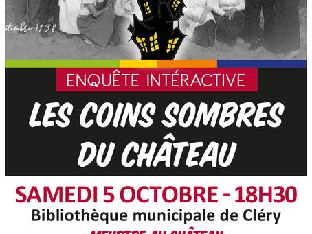 ►Enquête interactive - Les coins sombres du château - Sam. 5 octobre - 18h30 - Bibliothèque municipa