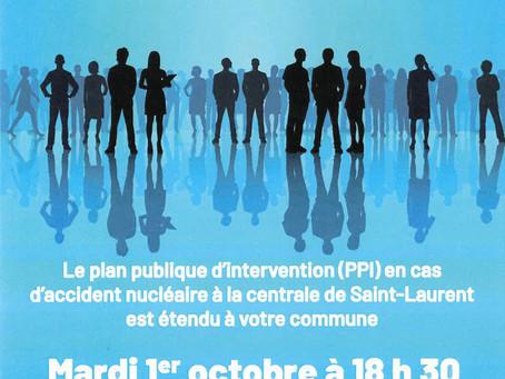 ►Réunion publique d'information : Extension du PPI de la Centrale de Saint-Laurent / Mardi 1er O